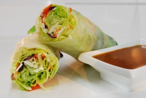 Gluten free vegan spring roll wrap