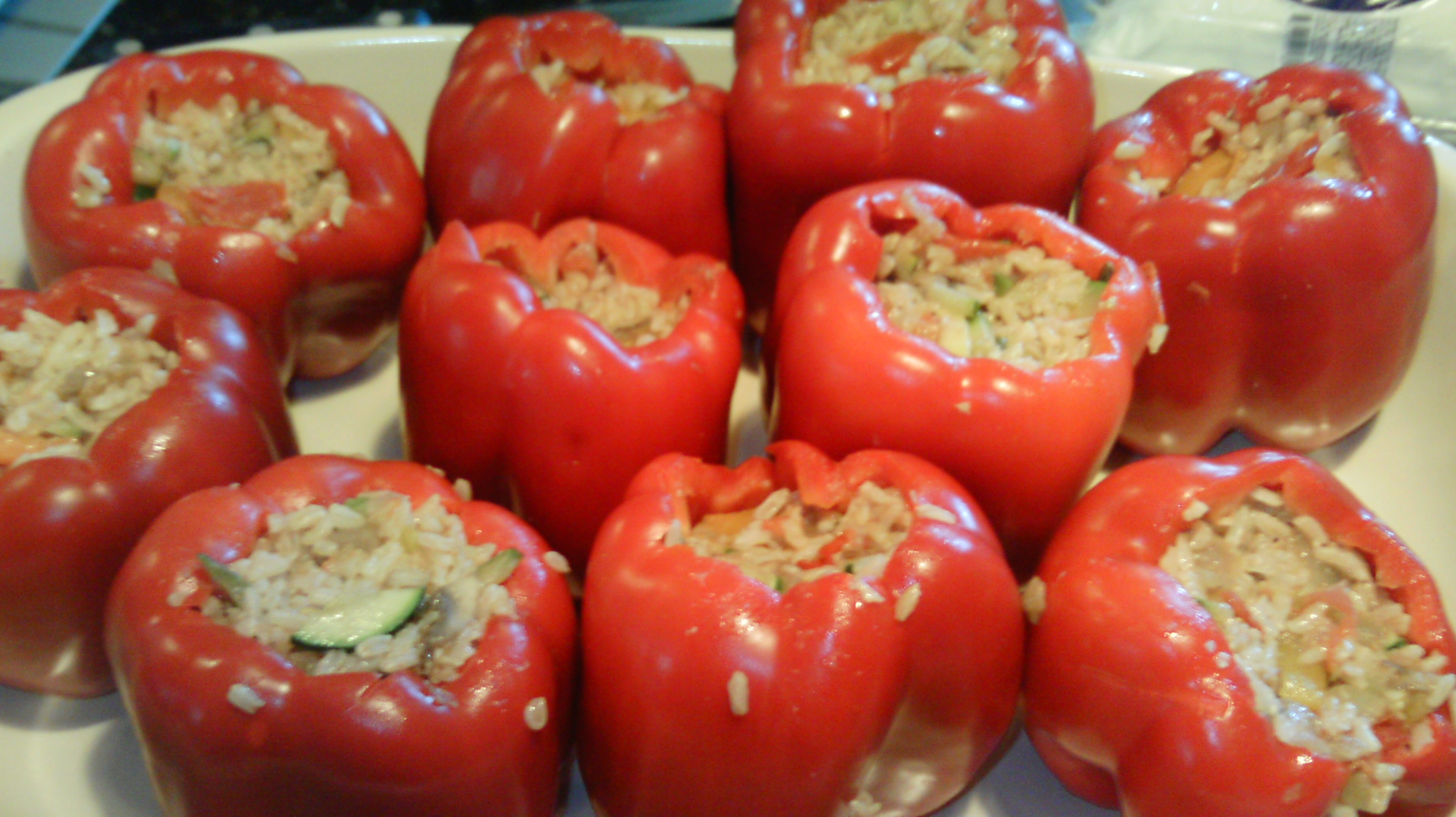 vegetarian stuffed peppers recipe | Hectic life. Healthy girl.