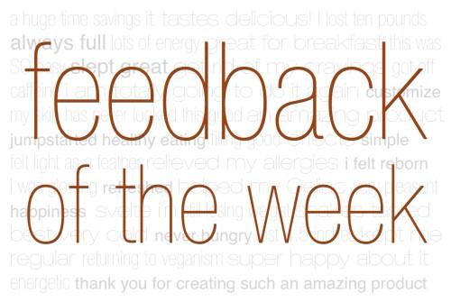 Feeback of the Week